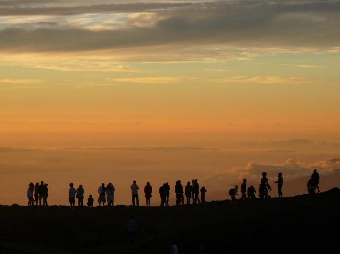 Sunset at Haleakalā. Photo courtesy Polly Angelakis.