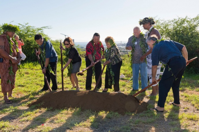 Hospice Maui groundbreaking for its Hale Ho'olu'olu facility. Photo credit: County of Maui.