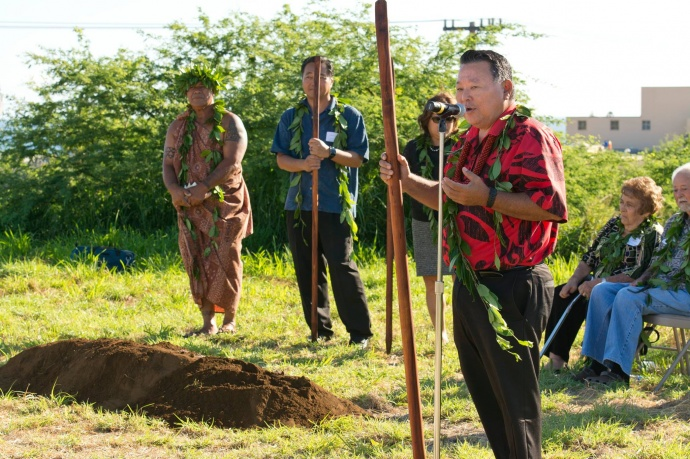 Hospice Maui's groundbreaking ceremony for it's Hale Ho'olu'olu facility. (5.21.2015)