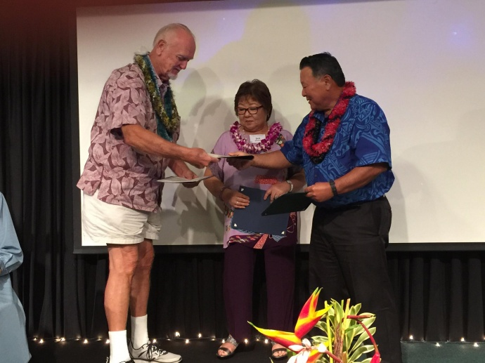2015 Outstanding Older American Award (male) recipient - Donald Jensen - at the 47th Annual Maui County Outstanding Older American Awards Luncheon. (5.15.2015). Photo courtesy Maui Police Department.