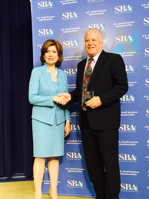 SBA Administrator Maria Contreras-Sweet at the White House with Sen. Russell Ruderman. Photo courtesy of Sen. Russell Ruderman.