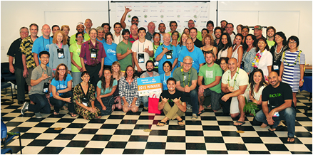 More than 80 people participated in last weekend's empowering event for entrepreneurs, including members of Startup Weekend Maui's 2015 alumni plus the coaches, mentors, judges and the Maui Economic Development Board staff. Photo by: Casey Nishikawa.
