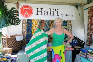 """The Made in Maui County Festival provided me with an opportunity to participate in a first-class show and marketing event that is not available on this scale for a small business.""--Harriet Alms, Hali`i by Harriet"
