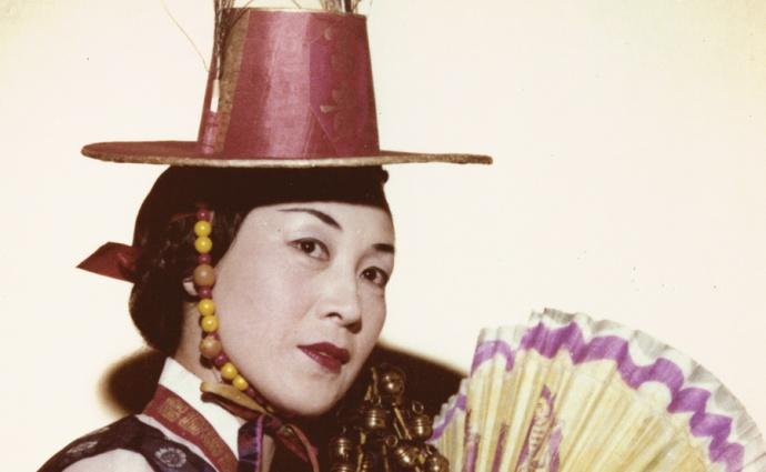 Halla Huhm in shaman 1970s dance costume. Courtesy photo.