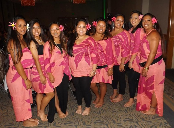 Richard Ho'opi'i ohana halau who performed with Richard at the Lifetime Achievement Awards. Courtesy photo.