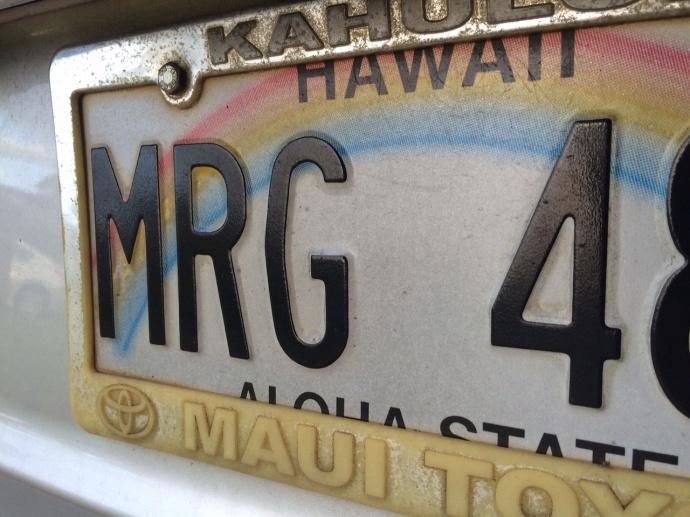 Hawaii license plate. Maui Now photo.