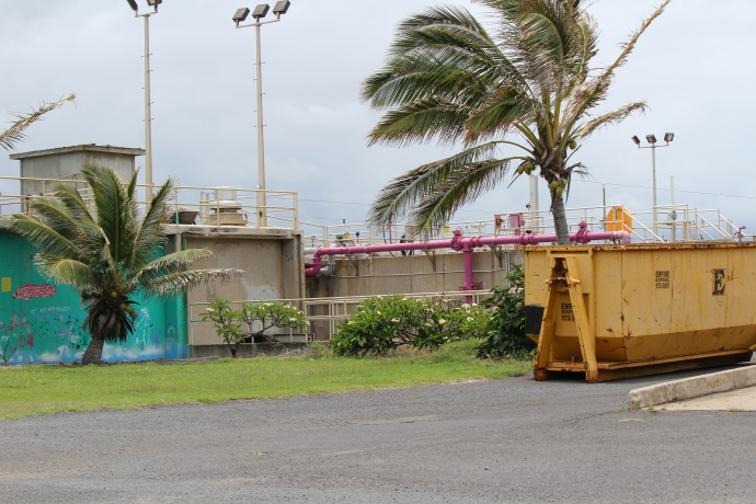 Wailuku-Kahului Wastewater Reclamation Facility in Kanahā, Maui. Photo May 2015 by Wendy Osher.