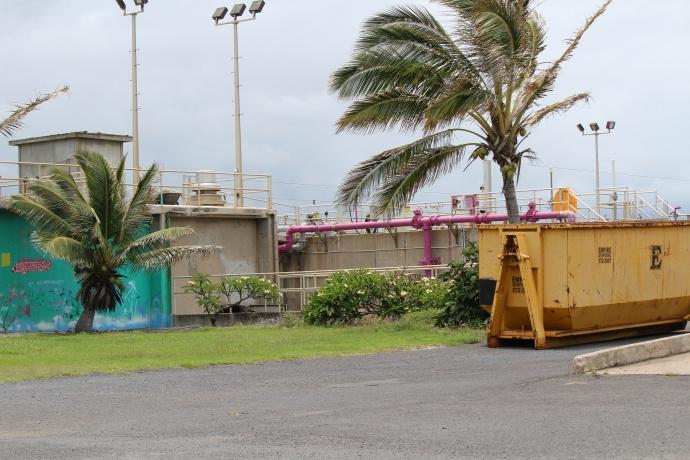 Wailuku-Kahului Wastewater Reclamation Facility in Kanahā, Maui. Photo May 2015 by Wendy Osher.
