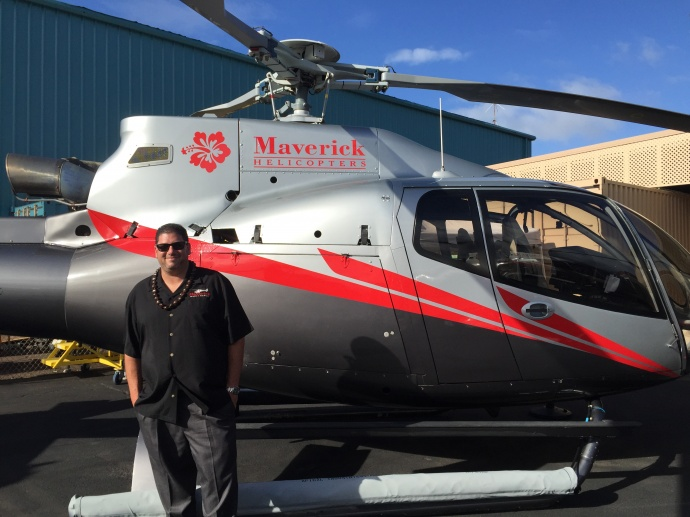 Maverick helicopters Maui operations, opening celebration. Photo, Friday, May 1, by Tara Dugan.