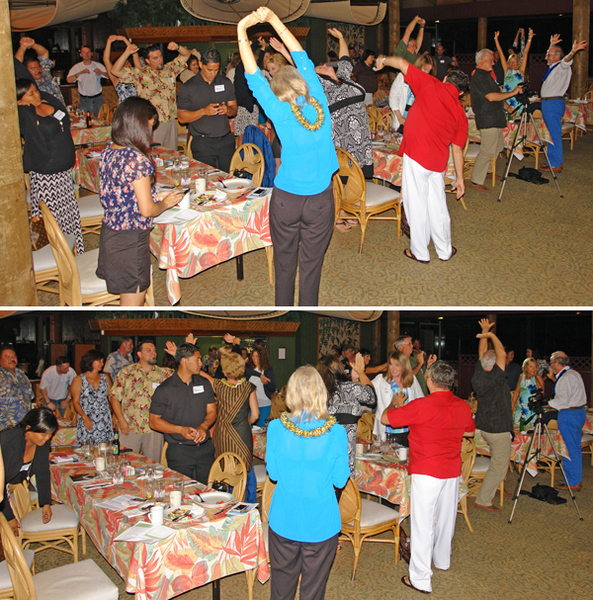 """Stretching time at the 2013 """"Masters of Retail Success on Maui."""" Image courtesy MBB."""