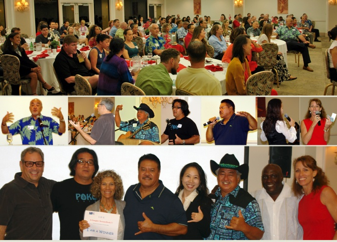 """The audience, the 2014 speakers and the emcee Annette Lynch at the 2014 """"Masters of Retail Success on Maui."""" Image courtesy MBB."""