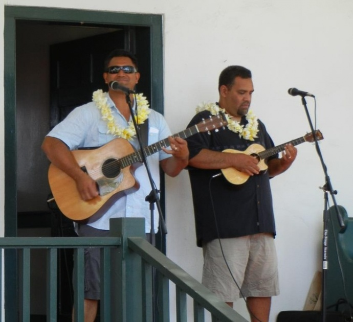 Josh Kahula and Preston Ako in Lahaina. Courtesy photo.