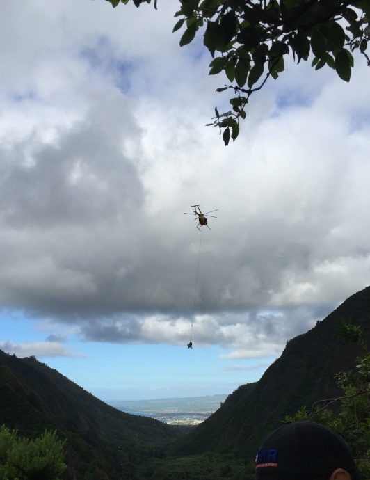 ʻĪao Valley rescue, 5.20.15. Photo credit: Maui Department of Fire and Public Safety.