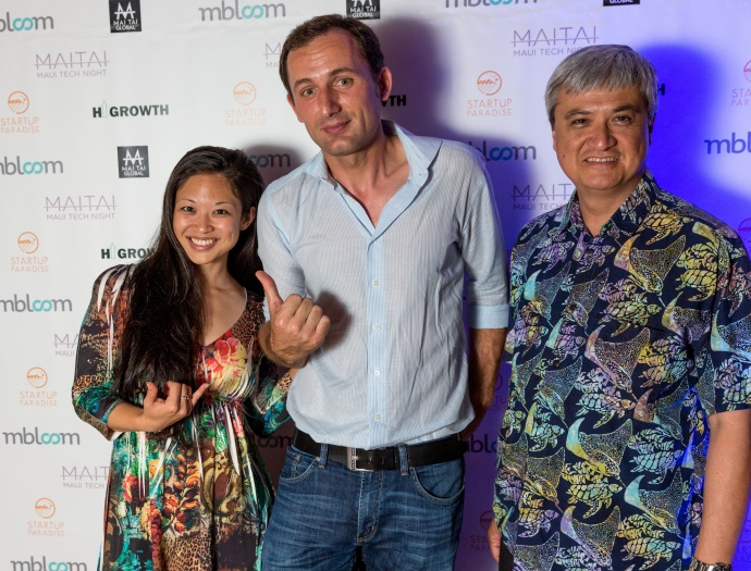 Maui Tech Night - Team members of mbloom. Courtesy photo.