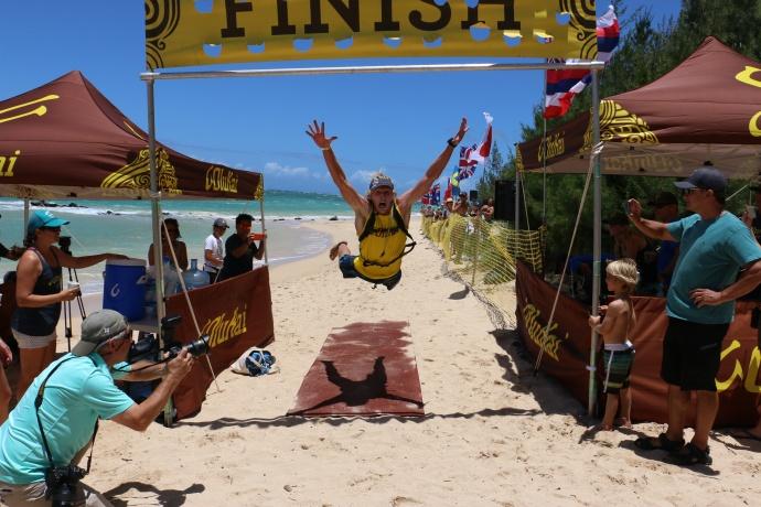 Maui-+s Connor Baxter wins OluKai Ho-+olaule-+a Mens Elite SUP photo credit to Spencer Sheehan