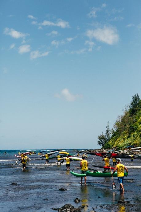 OC1 Race OluKai Ho'olaule'a Getting Ready Photo by Mark Kushimi