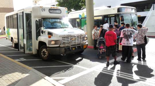Maui bus. Photo courtesy Office of Council Services.