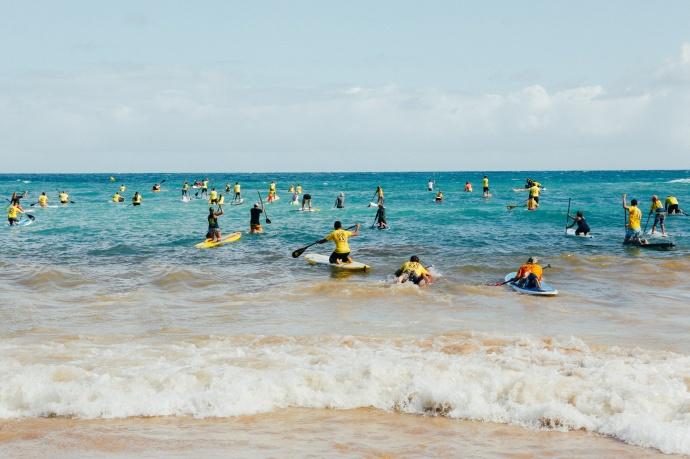 OluKai Ho'olaule'a 2015 Fun Paddle Photo by Mark Kushimi