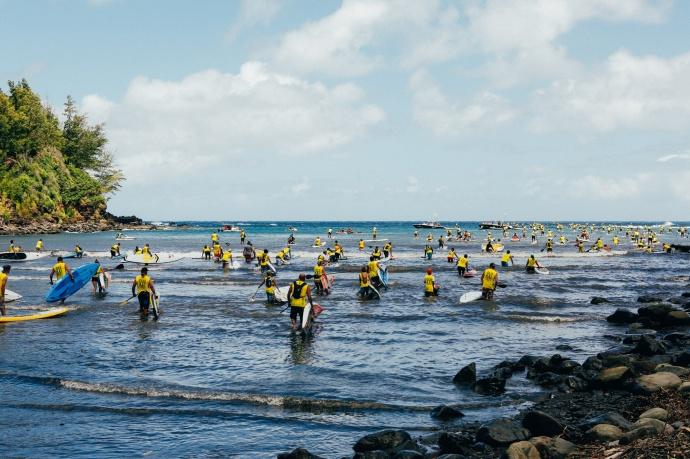 OluKai Ho'olaule'a SUP Competitors 2015 Photo by Mark Kushimi