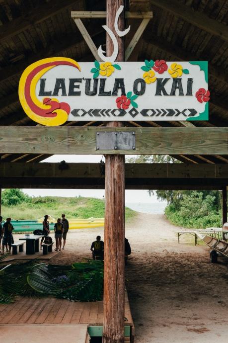 OluKai Team preparing for Demo Day at Ho'olaule'a 2014 Photo Credit Mark Kushimi