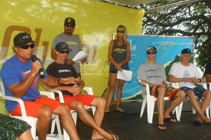 Pro Panel discussion 2 at OluKai Ho'olaule'a photo by Erik Aeder