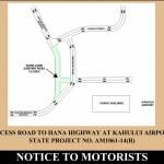 Airport Access Road Traffic Advisory