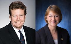Rep. Angus McKelvey (left) and Sen. Roz Baker (right). Photos courtesy Hawaiʻi State Legislature.