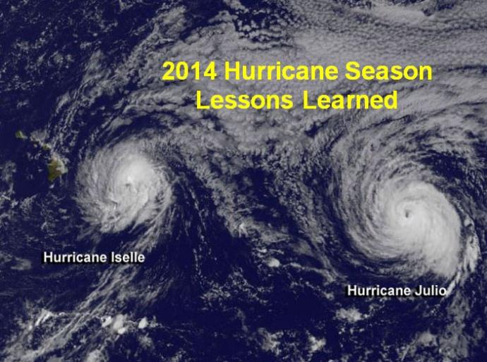 2014 Hurricane Season lessons learned. Image credit: NOAA/NWS.