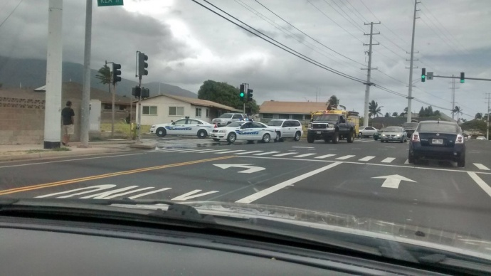 Kahului home fire on Kea Street. Photo credit: Ashley Carney.