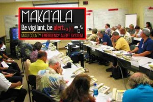 Emergency Operating Center on Maui. File photo. Courtesy County of Maui / Graphic montage Maui Now.