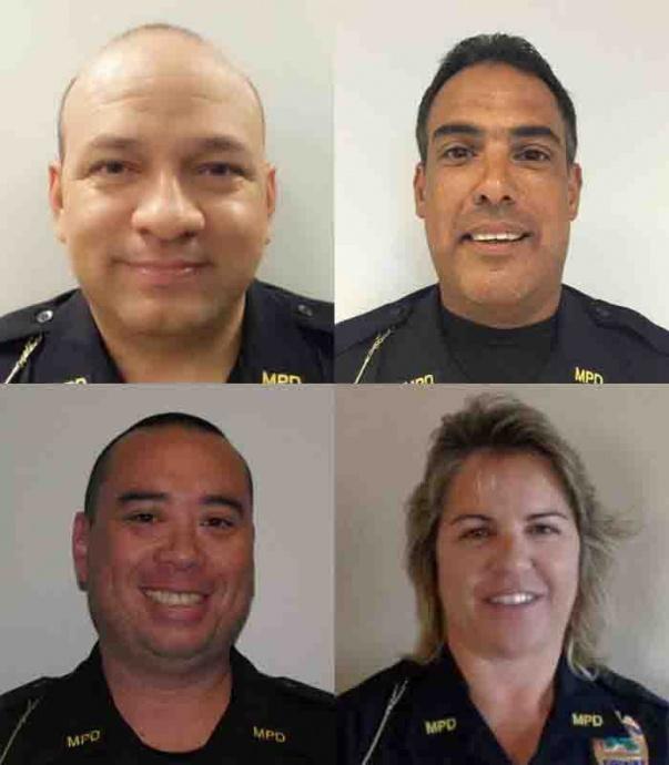 Maui Police Promotion: Richard Rodriguez (top left); Darrell Ramos (top right); Reid Pursley (bottom left); and Jamie Winfrey (bottom right).