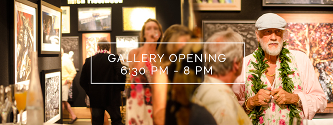 At 6:30 p.m. guests are invited to Mick Fleetwood's Gallery Opening at Fleetwood's General Store . Along with Mick Fleetwood's photography, the artists' featured are George 'Milo' Buck, Andrew Stuart & Rolling Stones guitarist Ronnie Wood. All prints are available for viewing or purchase the online store.