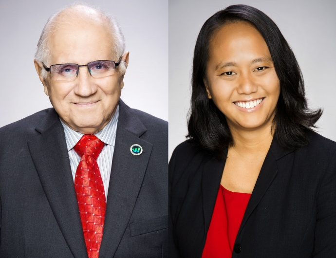 Rep. Della Au Belatti and House Speaker Joseph M. Souki co-introduced the bill.  Both are long-time supporters of medical marijuana dispensaries.  Courtesy photos Hawaiʻi State House.