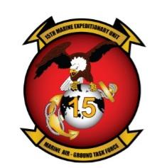 US Marine Corps 15th Marine Expeditionary Unit crest.