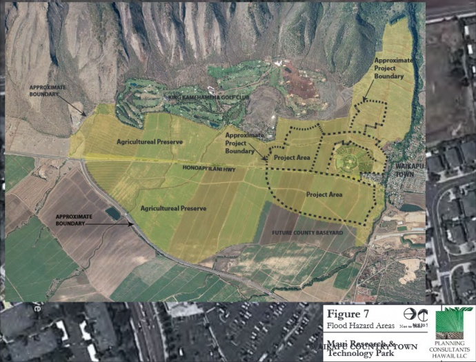 Waikapū Country Town project boundary map. Courtesy Waikapū Country Town LLC via DEA prepared by Planning Consultants Hawaiʻi, LLC.