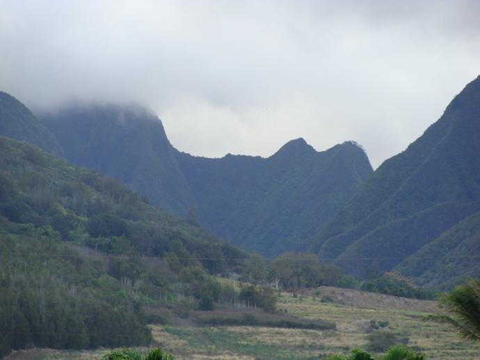 Waikapū landscape from the Maui Tropical Plantation.