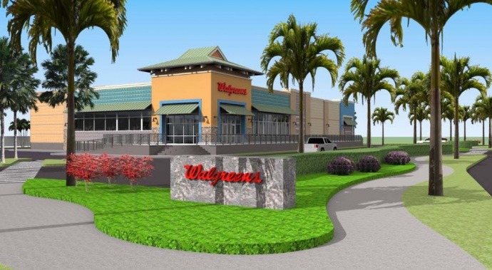 Walgreens Kīhei site plan - Courtesy Walgreen Maui Inc., via DEA prepared by PBR Hawaiʻi.