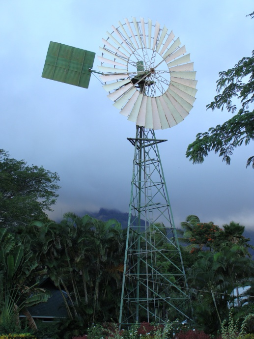 Windmill at the Maui Tropical Plantation.