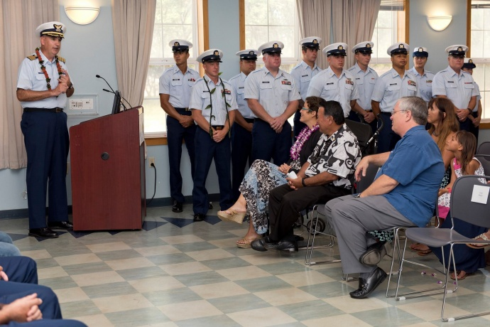 Remarks by Captain Shannon Gilreath Commander, Coast Guard Sector Honolulu during the Change of Command Ceremony. (6.8.2015)