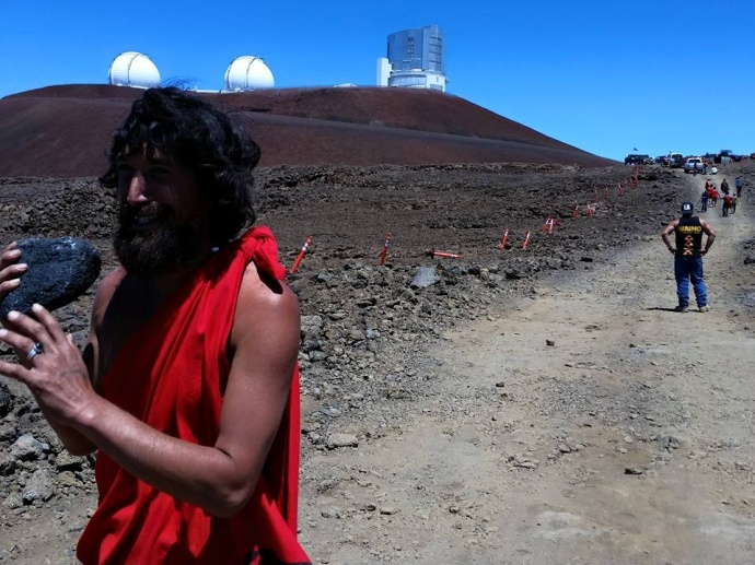 Mauna Kea demonstration, 6.24.15. Photo credit: Andre Perez.