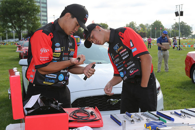 Maui High students Joseph Burger and David Casayuran finished fourth in the Ford AAA Student Auto Skills Competition held on June 9, 2015 in Michigan.