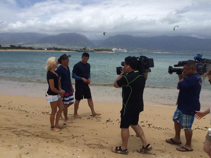 Carl Q kiteboarding lesson with Susi Mai on Maui. Courtesy photo.