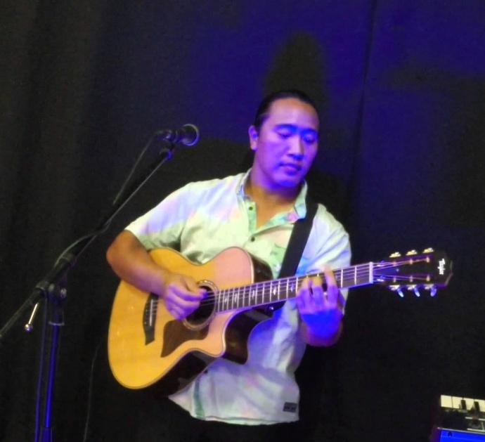 Dane Fujiwara guitar on stage
