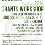 County Holding Free OED Grant Workshops