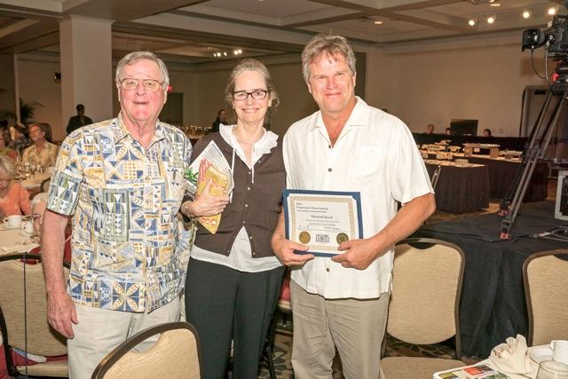 (Left to right) Sam Lyons, Barbara Pope, Scott Meidell. Photo by Andrea Nodasker, HHF.