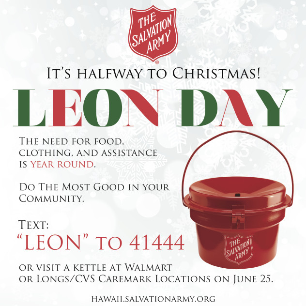LEON Day, image credit: The Salvation Army.