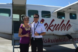 The first 500 island hoppers to fly Mokulele Airlines on King Kamehemeha Day will receive lei. Courtesy photo.