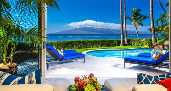 Opal Seas vacation home on Baby Beach in Lahaina, one of many luxury accommodations available through Tropical Villa Vacations. Courtesy photo.
