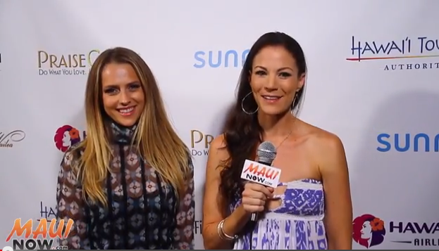 MauiNOW's Malika Dudley interviews Australian actress Teresa Palmer at opening night of the Maui Film Festival
