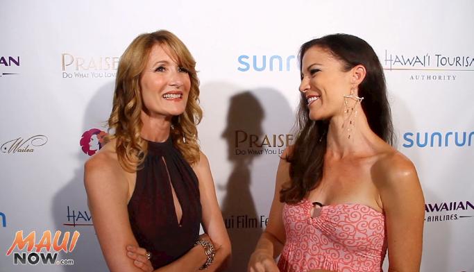 MauiNOW's Malika Dudley interviews Laura Dern at the 2015 Maui Film Festival